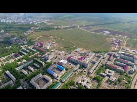 г.Шелехов с высоты птичьего полета (Иркутская область)