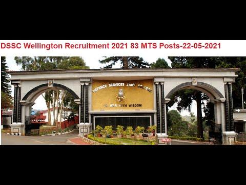 DSSC Wellington Recruitment 2021 83 MTS Posts