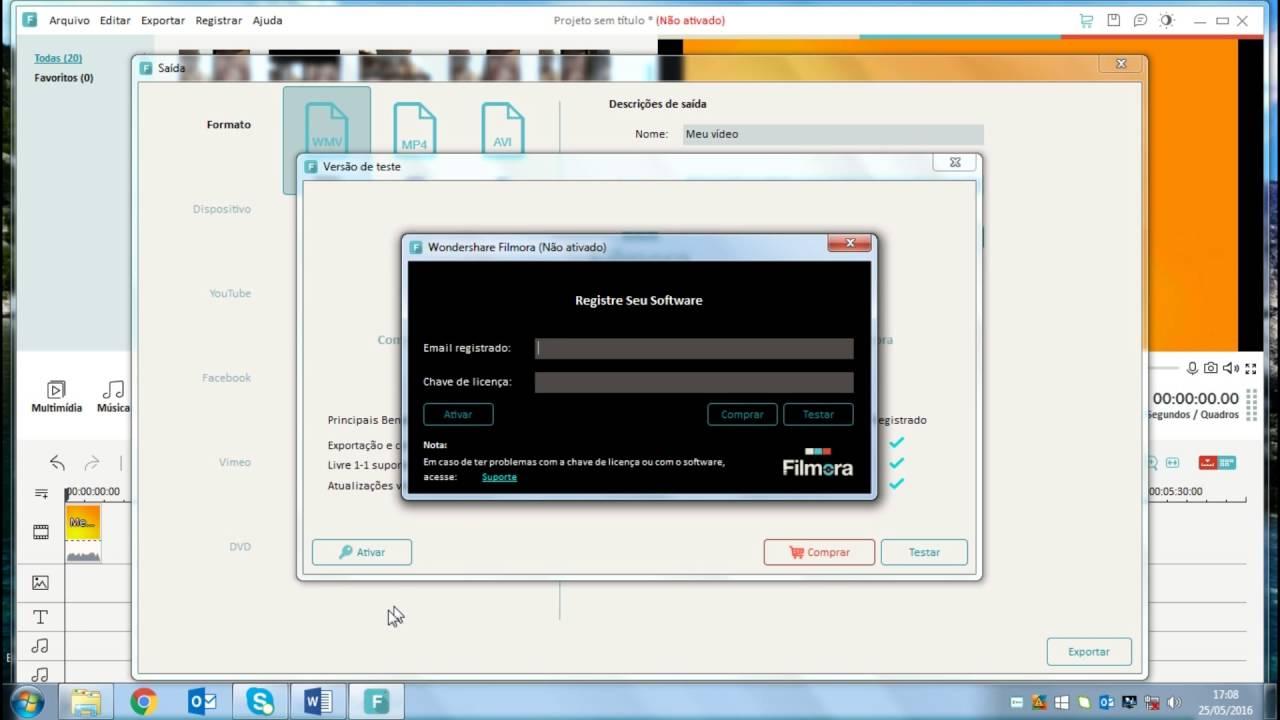 Chave do wondershare filmora Download 100% WORKING