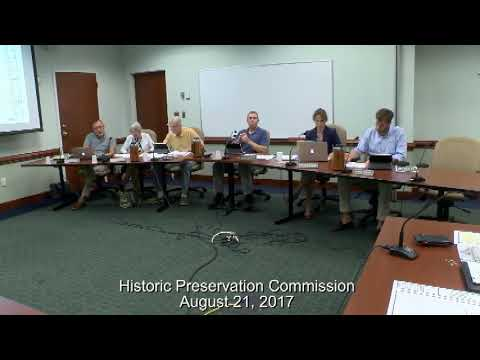 Historic Preservation Commission August 21, 2017