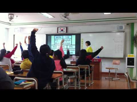 TEFL in South Korea (EPIK) - Full lesson [Grade 5; 27 students]