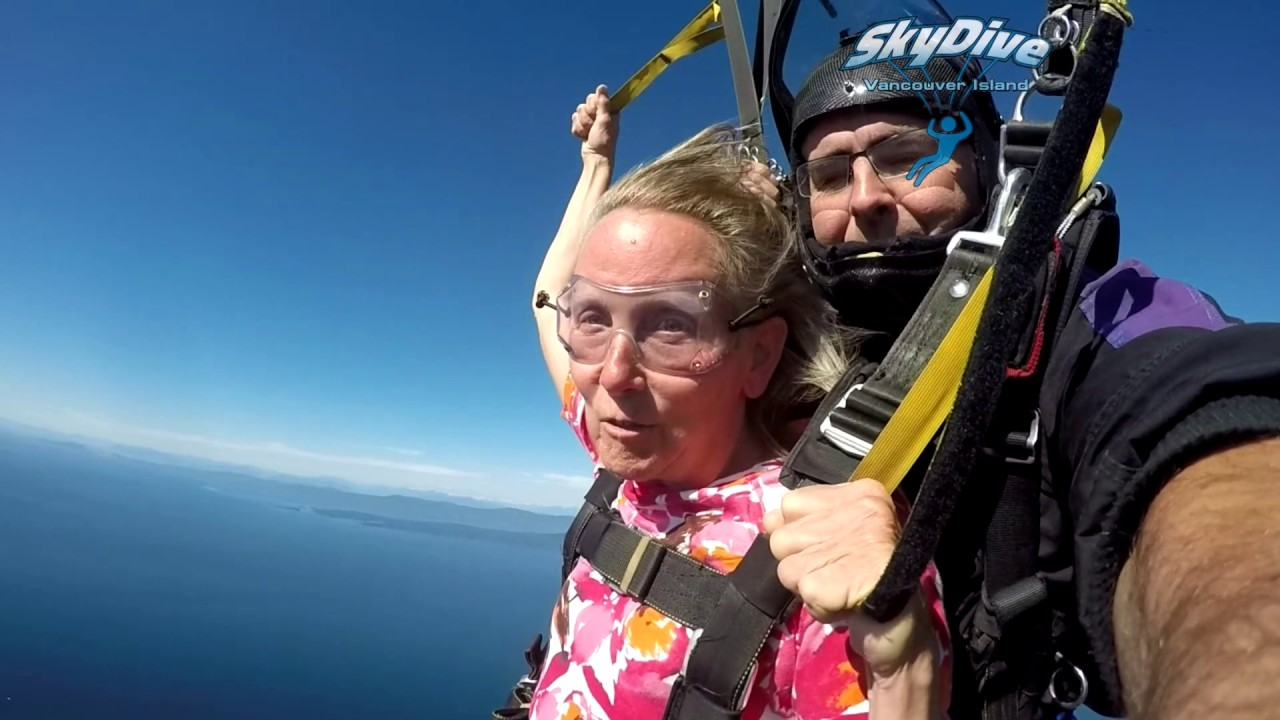 Wanda Soars Like An Eagle At Skydive Vancouver Island