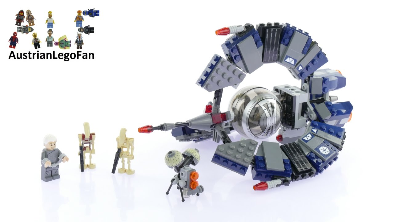 Lego Star Wars 75044 Droid Tri Fighter Lego Speed Build
