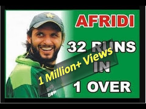 Afridi's Best over | 4, 4, 6, 6, 6, 6 | Shahid Afridi highest score in one over | BOOM BOOM thumbnail