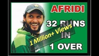 Afridi's Best over | 4, 4, 6, 6, 6, 6 | Shahid Afridi highest score in one over | BOOM BOOM