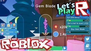 Roblox #14-Now I'm with the Blade Gem sword!!!