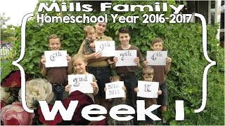 mills family home school year week 1 feat ace curriculum large family homeschool vlog