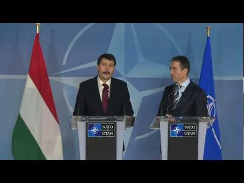 NATO Secretary General - Press point with President of Hungary