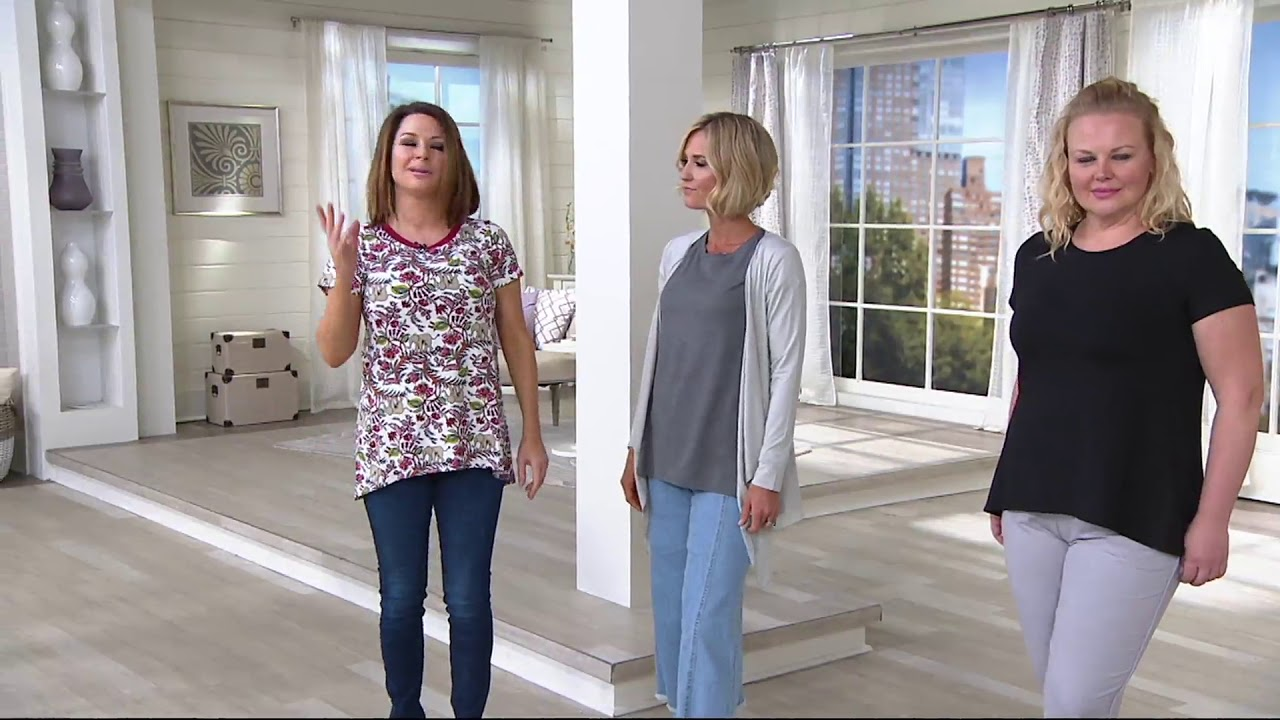 af0047b76487b Cuddl Duds Flex Wear Short Sleeve Swing Tee on QVC - YouTube