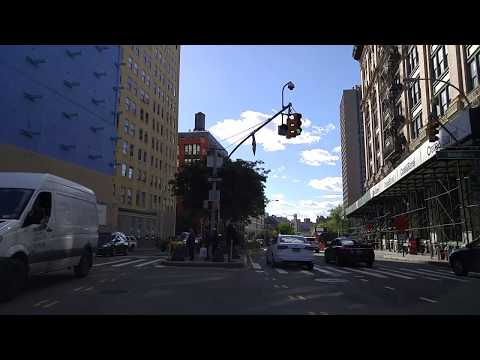 Driving from Two Bridges to Tribeca in Manhattan,New York