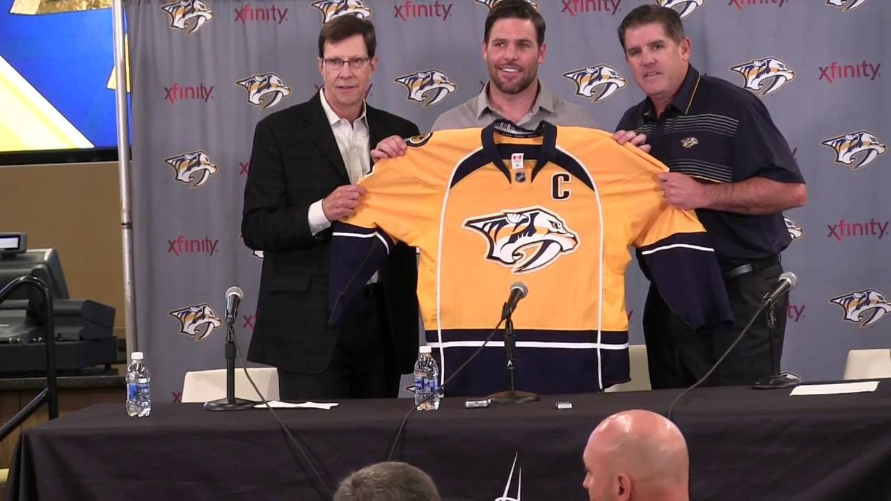 designer fashion 17113 570b5 Mike Fisher named Preds Captain - YouTube
