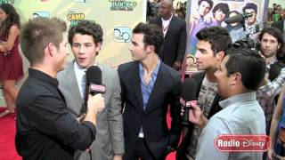 Jonas Brothers at the Camp Rock 2 Premiere on Radio Disney