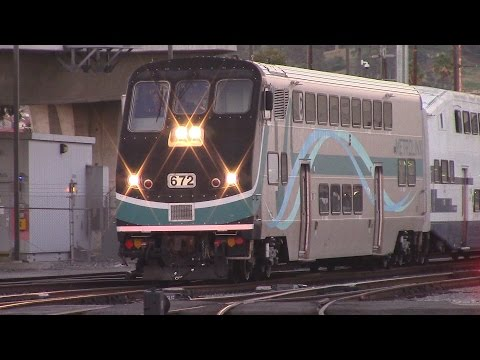 Evening Rush Hour at Los Angeles Union Station - Endless Metrolink & Amtrak Trains