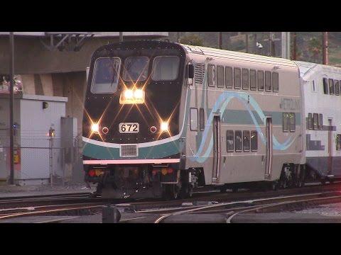 Evening Rush Hour at Los Angeles Union Station - Endless Metrolink & Amtrak Trains