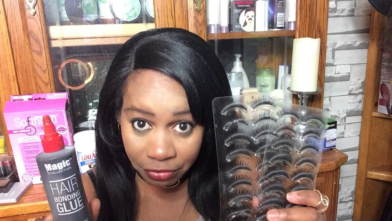 How To Use Hair Glue For Fake Lashes Update Youtube
