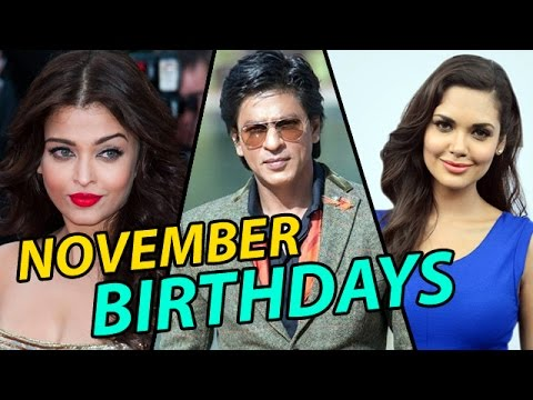 Bollywood Celebrities Birthday November Youtube