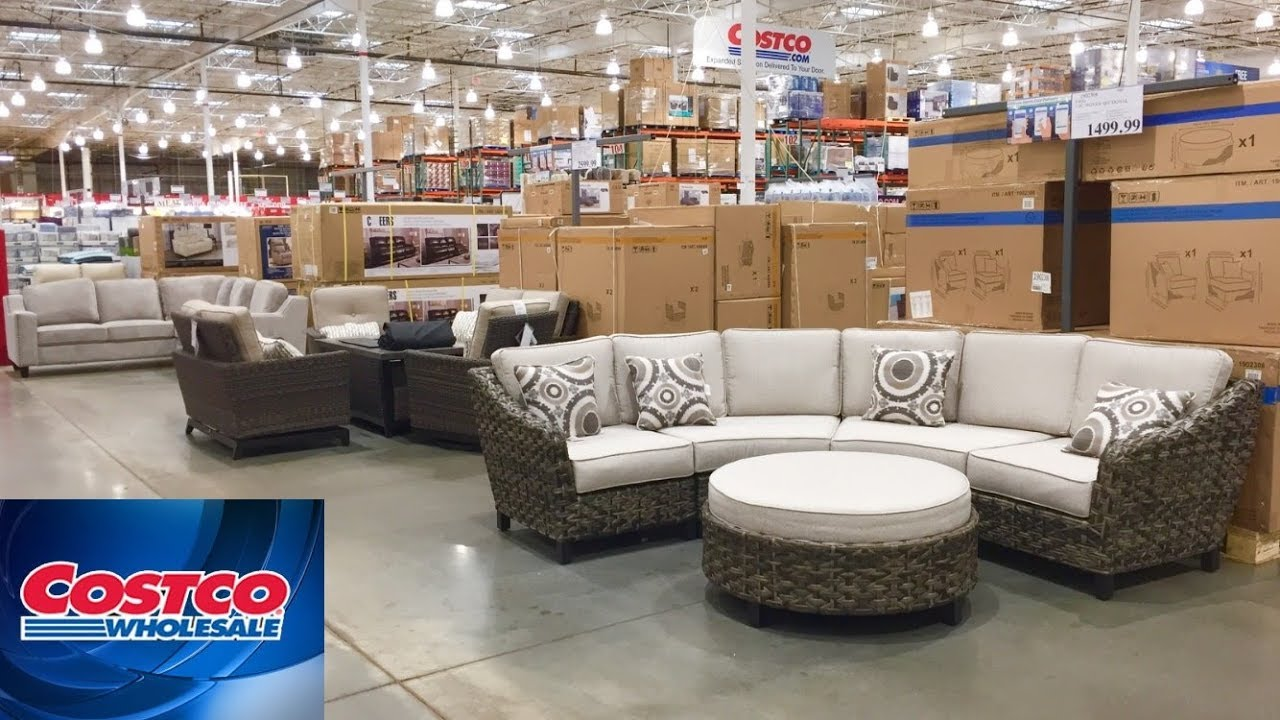costco furniture sofas armchairs outdoor patio home decor shop with me shopping store walk through