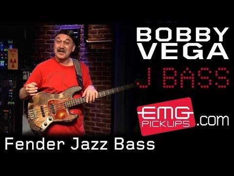 Bobby Vega on Fender Jazz Bass and Acoustic 360 - EMGtv