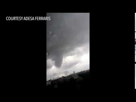 View of the tornado from New Manila, Quezon City