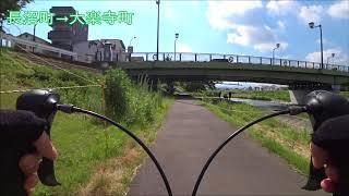 【2018年夏】浅川サイクリングロード(長沼町→大楽寺町)×2倍速
