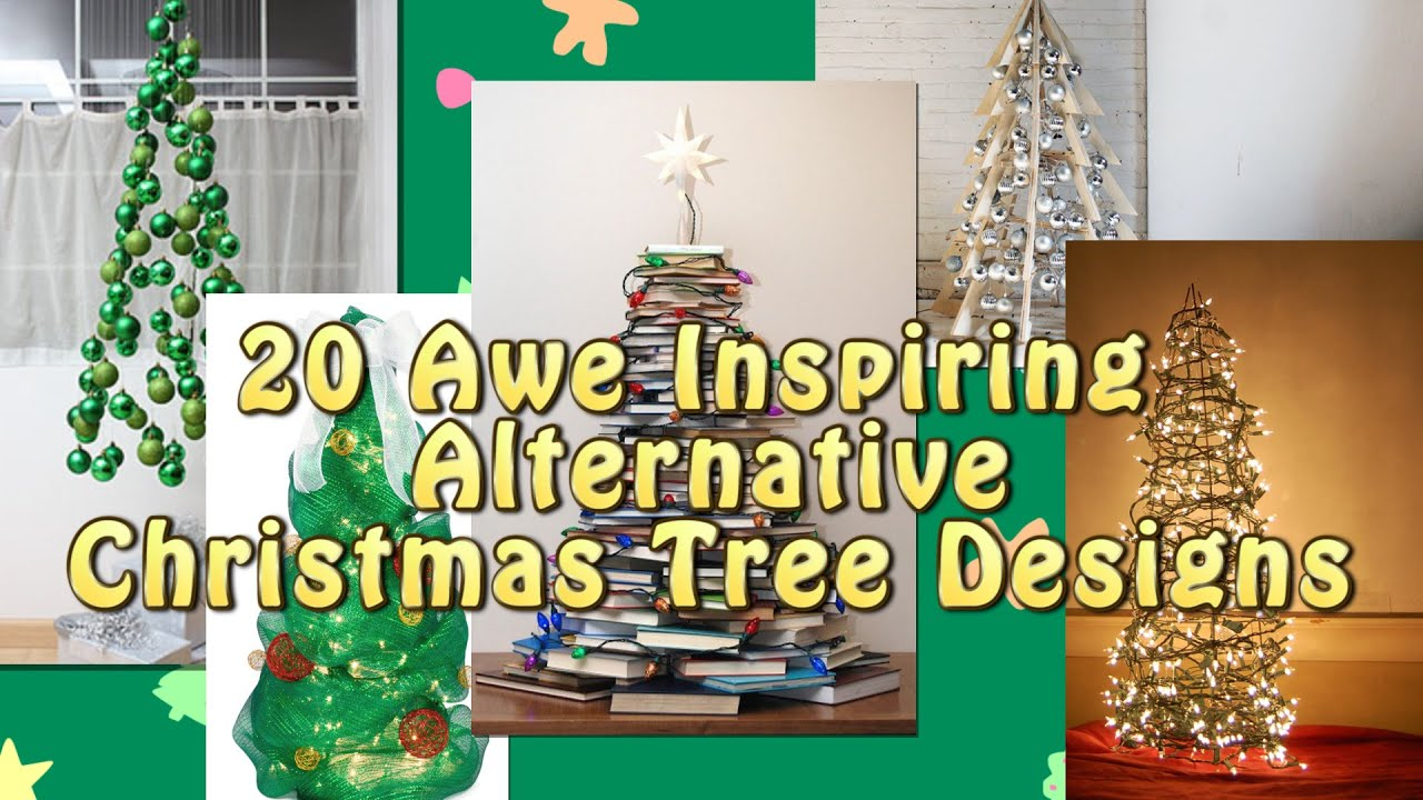 20 alternative christmas tree designs youtube - Christmas Tree Designs