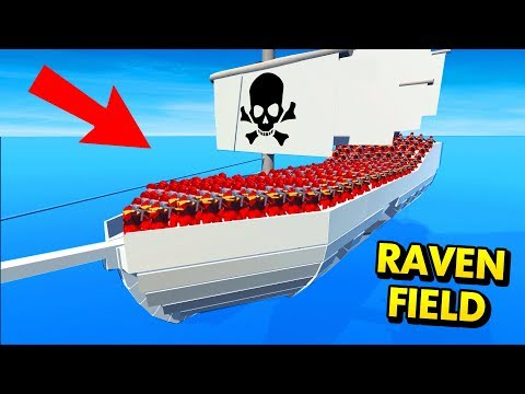 PIRATE BATTLES ON SHIPS IN RAVENFIELD! (Ravenfield Funny Gameplay)