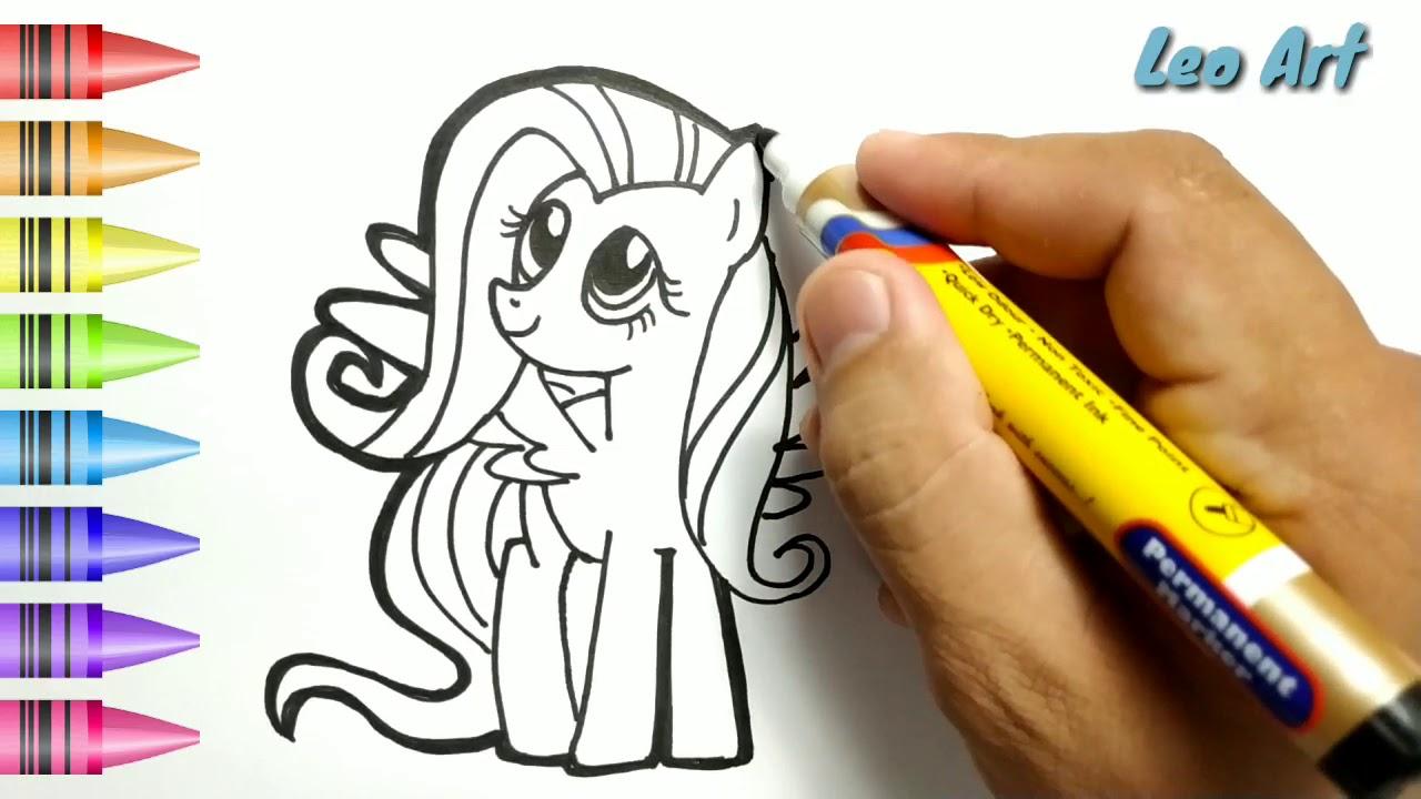 hebat cara menggambar dan mewarnai my little pony