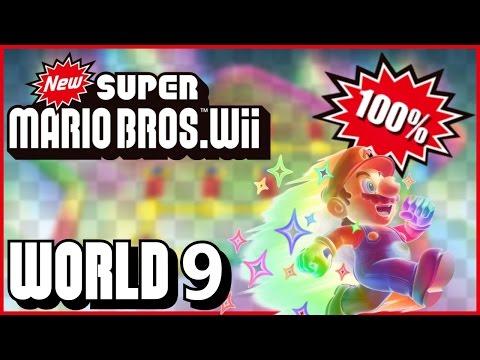 New Super Mario Bros. Wii - World 9 (Rainbow) 100% multiplayer walkthrough
