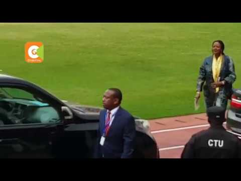 Nairobi Governor-Elect Mike Mbuvi Sonko's convoy during the Kagame Inauguration