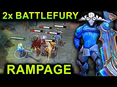 SVEN 2x BATTLEFURY RAMPAGE DOTA 2 NEW META GAMEPLAY #7  (FUNNY, FAILS AND RAMPAGE MOMENTS)