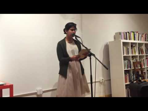 Maryam Parhizkar reading for Writing USAmerickas | Berl's Brooklyn Poetry Shop