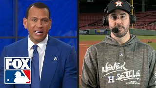 Justin Verlander talks with FOX MLB crew ahead of Houston\'s ALCS matchup with Boston | FOX MLB
