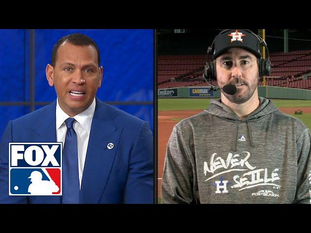 Justin Verlander talks with FOX MLB crew ahead of Houston's ALCS matchup with Boston | FOX MLB
