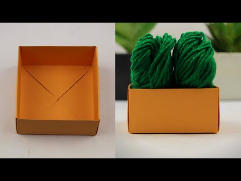 How To Make Strong Paper Box Without Glue || Origami Box