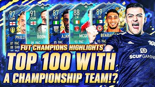 TOP 100 ON FUT CHAMPIONS with a CHAMPIONSHIP TEAM!? Fifa 20 Ultimate Team Gameplay!! EFL TOTSSF!!
