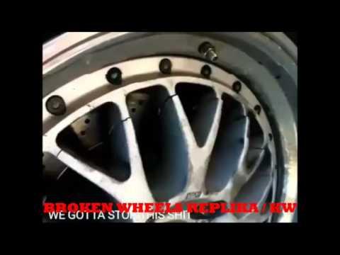 VELG MOBIL REPLIKA HANCUR parah ketika di jalan raya, ( broken wheels replika)