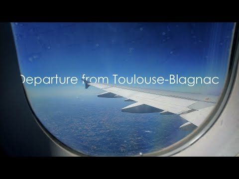 Perfect weather on departure | Air France A321 out of Toulouse-Blagnac