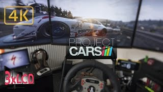 Project CARS | Porsche SuperCup at Spa | weather cycle | Triple Screen in Ultra 4K onboard