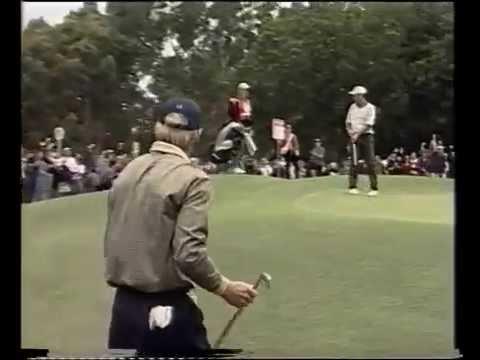 1999 Australian Open Golf won by Aaron Baddeley | 7 Sport | The Royal Sydney Golf Club