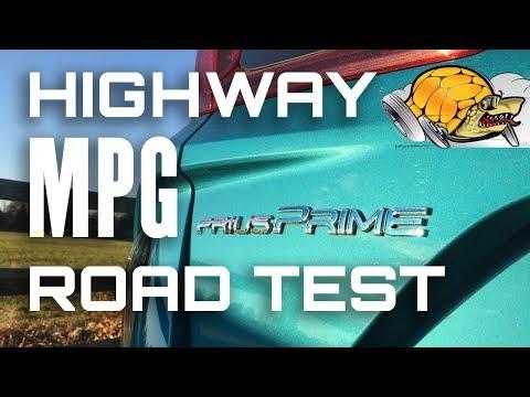 Toyota Prius Prime Highway MPG Road Test