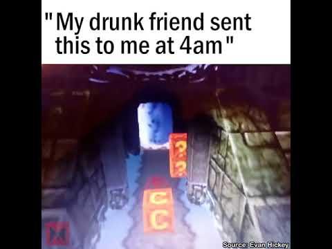 Drunk Guy Makes Perfect Crash Bandicoot Sound Effects
