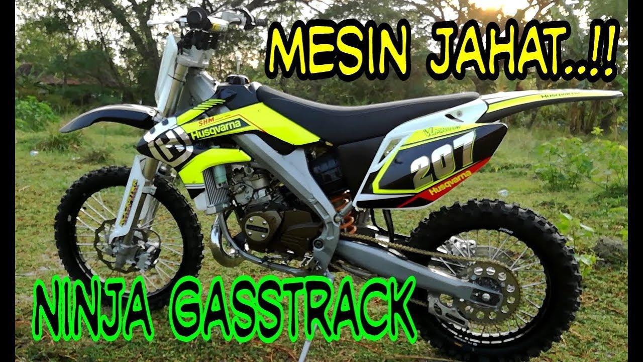87 Modifikasi Motor Trail Ninja Terkeren Oneng Motomania