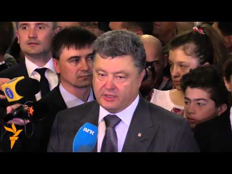 Poroshenko votes in Ukraine election