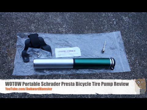 WOTOW Portable Schrader Presta Bicycle Tire Pump Review