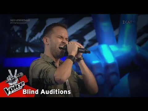 Στέφανος Στεργίου - Highway to Hell | 2o Blind Audition | The Voice of Greece