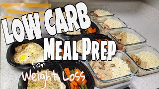 Healthy Meal Prep f๐r Weight Loss | CALORIE DEFICIT & LOW CARB