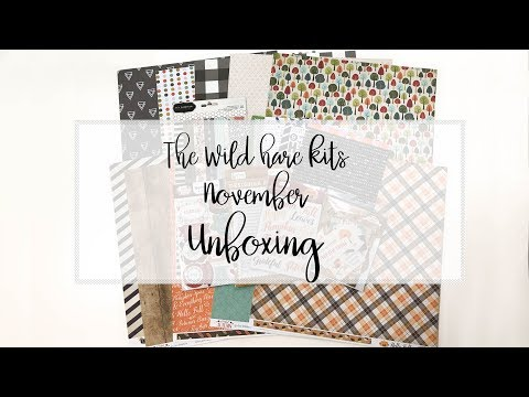 the wild hare kits | kit unboxing | #4 | November 2017
