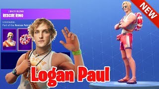 *NEW* LOGAN PAUL SKIN! SUN TAN SPECIALIST, RESCUE RING & RESCUE PADDLE - FORTNITE BATTLE ROYALE