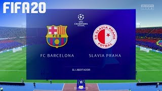 Check out this brand new fifa 20 gameplay of the champions league by beatdown gaming on ps4. in match fc barcelona take slavia praha at el libertador...
