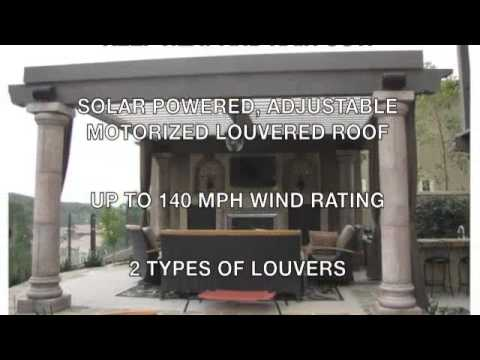 Outdoor Living, Louvered Roof, Equinox Roof, Patio Covering
